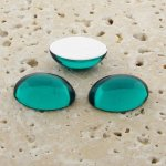 Teal Jewel - 8x6mm. Oval Domed Cabochons - Lots of 144