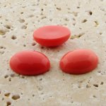 Coral Opaque - 6x4mm. Oval Domed Cabochons - Lots of 144