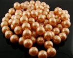 PEACH 16MM ROUND SMOOTH JAPANESE PEARLS - Lot of 12