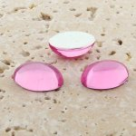 Rose Jewel - 8x6mm. Oval Domed Cabochons - Lots of 144