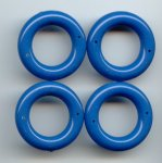 BLUE 6x31MM ROUND 2-HOLE RING PENDANTS - Lot of 12