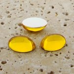 Jonquil Jewel - 8x6mm. Oval Domed Cabochons - Lots of 144