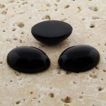 Jet Opaque - 6x4mm. Oval Domed Cabochons - Lots of 144