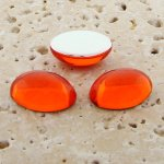 Orange Jewel - 8x6mm. Oval Domed Cabochons - Lots of 144