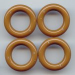 BROWN 6x31MM ROUND 2-HOLE RING PENDANTS - Lot of 12