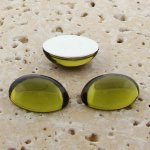 Olivine Jewel - 8x6mm. Oval Domed Cabochons - Lots of 144