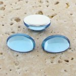 Light Sapphire Jewel - 8x6mm. Oval Domed Cabochons - Lots of 144