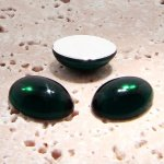 Emerald Jewel - 8x6mm. Oval Domed Cabochons - Lots of 144