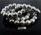 GREY 16MM ROUND SMOOTH JAPANESE PEARLS - Lot of 48