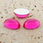 Pink Jewel - 8x6mm. Oval Domed Cabochons - Lots of 144