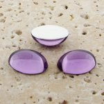 Light Amethyst Jewel - 8x6mm. Oval Domed Cabochons - Lots of 144