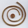 THICK FANCY S BRASS 6MM. VINTAGE CHAIN - PRICED PER FOOT