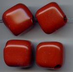 RUST 30MM SMOOTH LARGE HOLE CUBE BEAD - Lot of 12